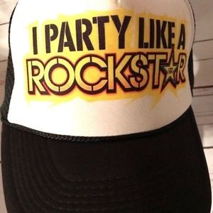 Party Like A Rock Star Energy Drink Mesh Hat